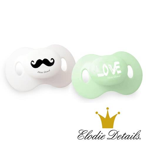 【瑞典ELODIE DETAILS】雙入安撫奶嘴組(Mustache LOVE)