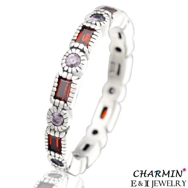 【E&I】CHARMIN -紅色情迷-純銀彩鑽戒指