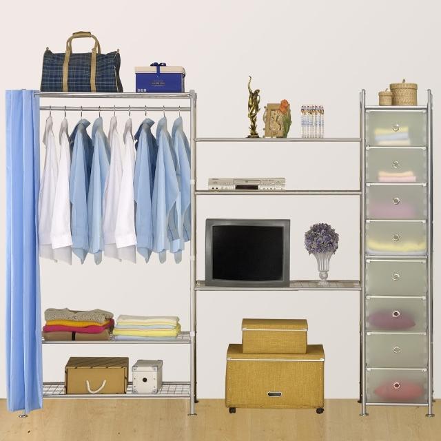 【巴塞隆納】W3型90+90+D電視衣櫥置物櫃
