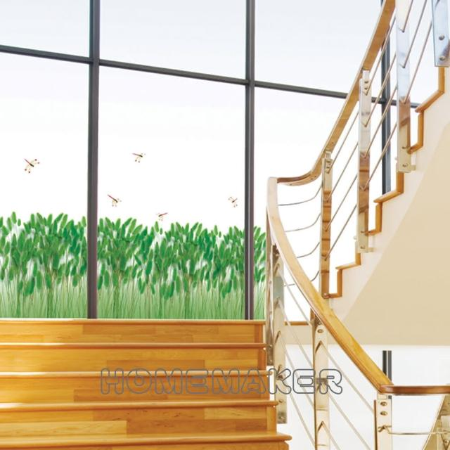 【FIXPIX】蜻蜓與蘆葦草-大型牆面裝飾貼片(HPS-58158)