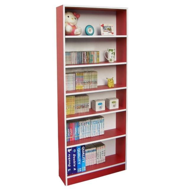 【美佳居】大6格-180高(挑高格)公文櫃-書櫃(紅白色)