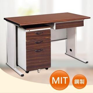 【時尚屋】BTH120CM 胡桃木紋色辦公桌櫃組(UA7-Y687-3)