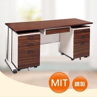 【時尚屋】150CM 胡桃木紋色辦公桌櫃組(261-5)