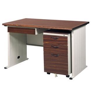 【時尚屋】120CM 胡桃木紋色辦公桌櫃組(250-8)