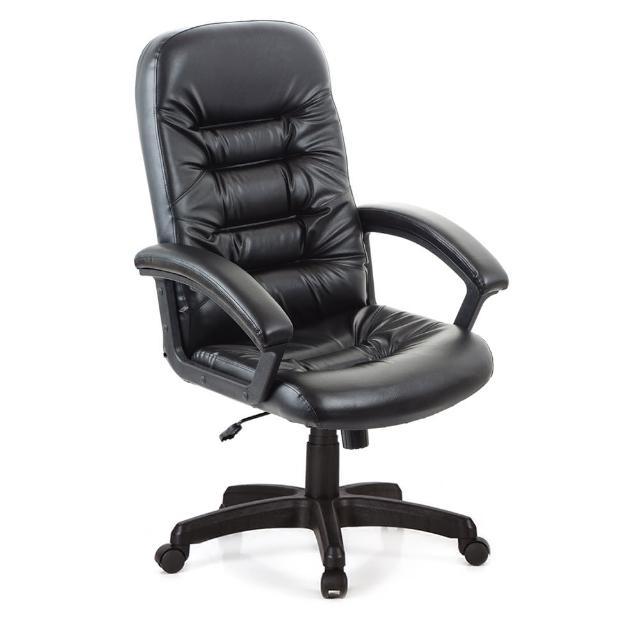 【吉加吉】高背 經典款 皮椅 電腦椅 TW-1001(黑色)