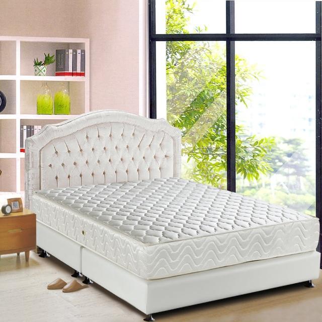 【睡芝寶-完美備長碳矽膠+3M防潑水-蜂巢式獨立筒床墊-雙人】