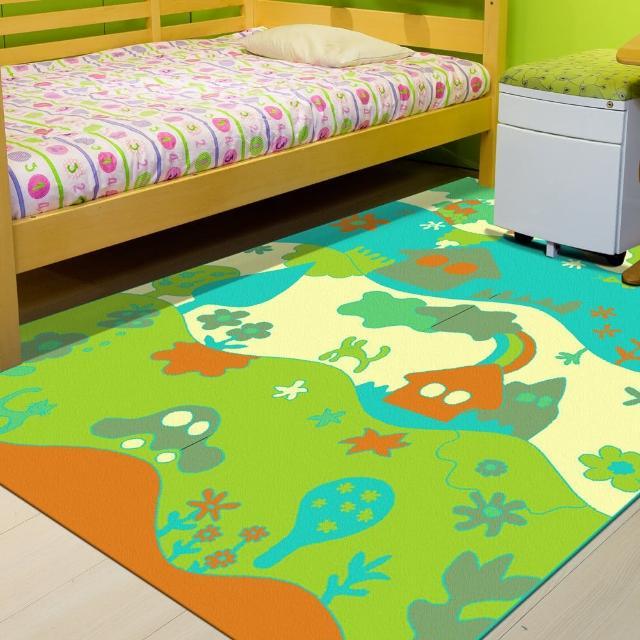【范登伯格】奧斯汀☆可愛歡樂絲質地毯-魔法森林(140x200cm)