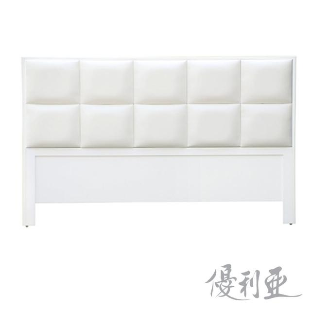 【優利亞-白色方程式】雙人5尺床頭片