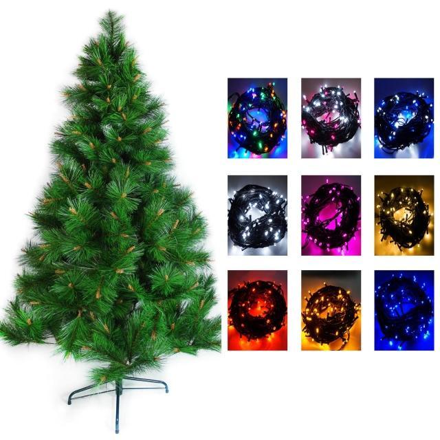 【聖誕裝飾品特賣】台灣製造6呎-6尺(180cm特級綠松針葉聖誕樹-不含飾品+100燈LED燈2串-附控制器跳機)
