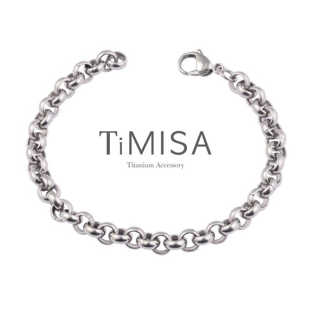 【TiMISA】風之戀 純鈦手鍊(M)