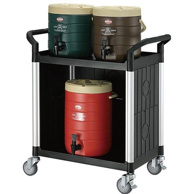 【COLOR】精緻標準型2層三面圍邊工具-餐推車(高級儀器輪)