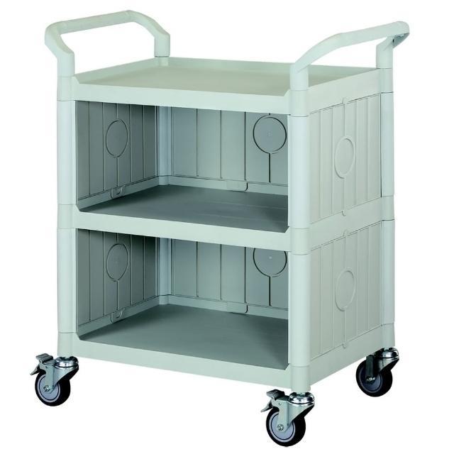 【COLOR】精緻標準型3層三面圍邊工具-餐推車(高級儀器輪)