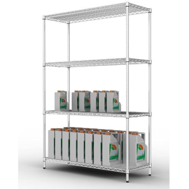 【樂活主義】IRON 荷重型 鍍鉻萬用四層架120X60X180