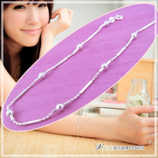 【維克維娜】氣質微甜。小圓珠長條設計925純銀手鍊