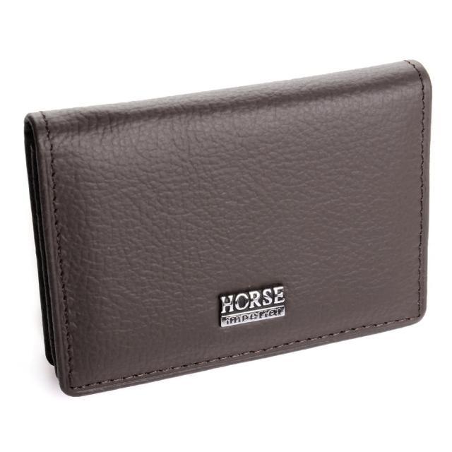 【H-CT】HORSE系列深咖啡真皮名片夾(CH022-B02-Z)