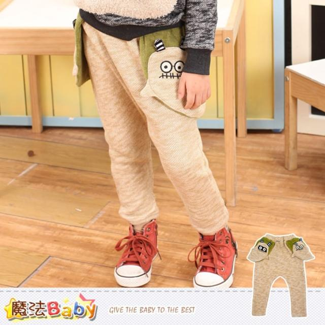 【魔法Baby】兒童長褲 專櫃品牌針織長褲(k37173)