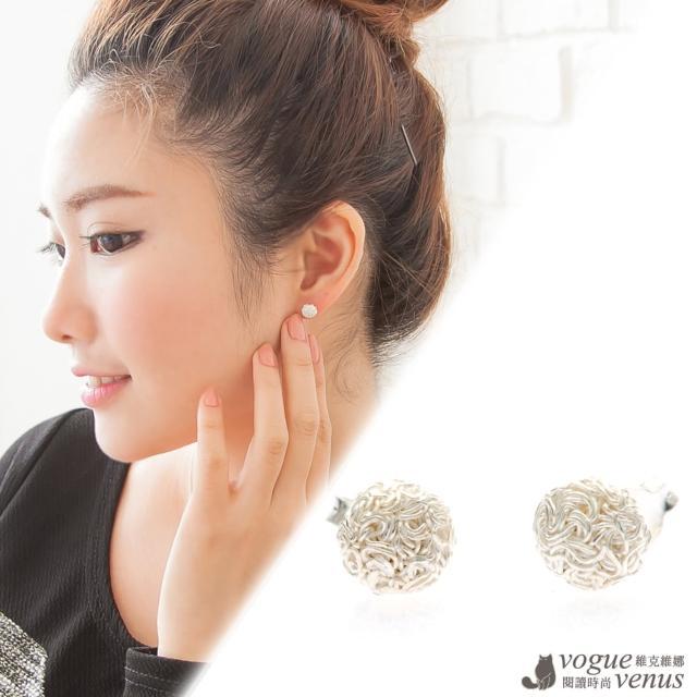 【維克維娜】迷人典藏。不規則紋路小半圓貼耳耳環