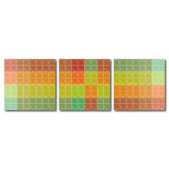 【123點點貼】三聯式藝術創意無痕壁貼(J40190)