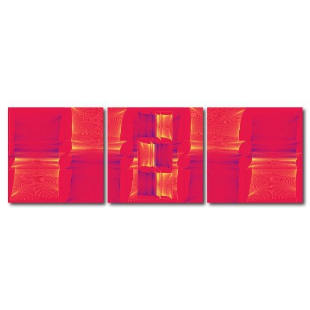 【123點點貼】三聯式藝術創意無痕壁貼(J40195)