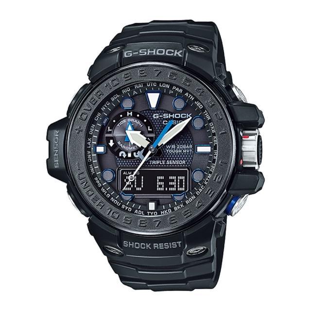【CASIO 卡西歐 G-SHOCK 系列】全日製電波限量版-海洋系列多功能運動錶(GWN-1000C)
