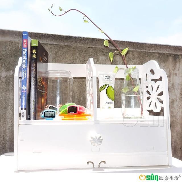 【Osun】DIY木塑板 歐式白色雕花櫻花書架(CE-178-YH40)