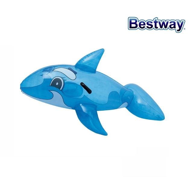 【酷博士】Bestway。62X37吋充氣透明鯨魚坐騎(41037)