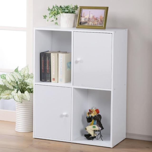 【Homelike】現代風四格二門置物櫃(三色)