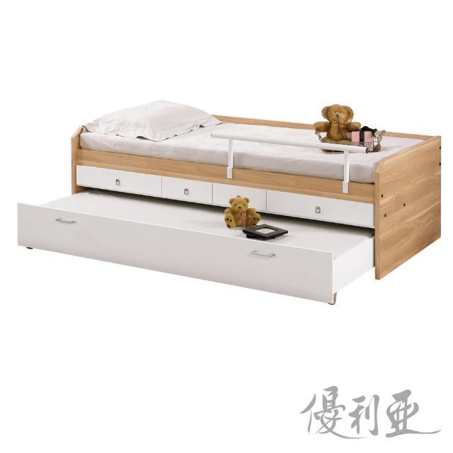 【優利亞-原木雙色】3.3尺子母床(不含床墊)