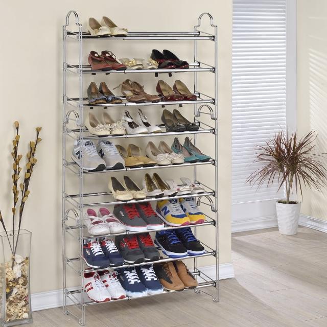 【百變王】堆疊式伸縮鞋架(3入)