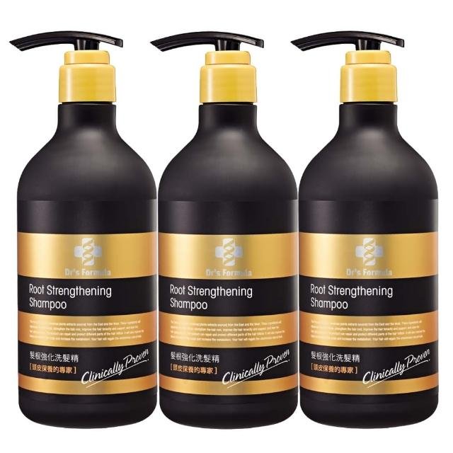 【台塑生醫】Dr's Formula髮根強化洗髮精(580g-3入)