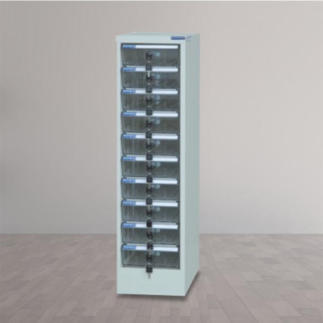 【時尚屋】DF多用途PC存放櫃10格透明抽(RU5-DF-PC-10)