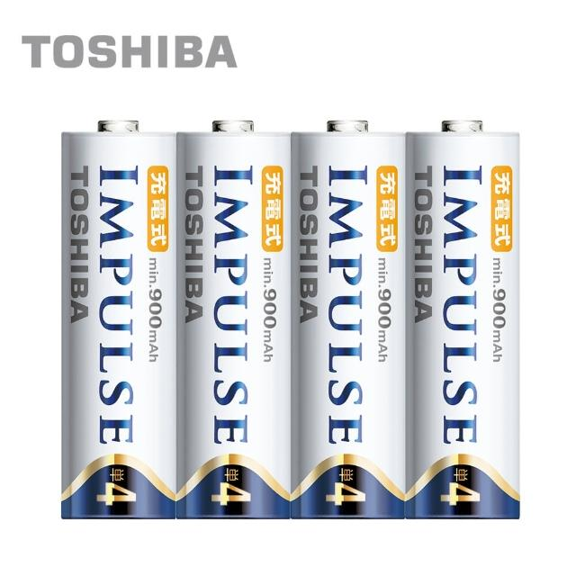 【日本製TOSHIBA】IMPULSE高容量低自放電電池(900mAh 4號4入)