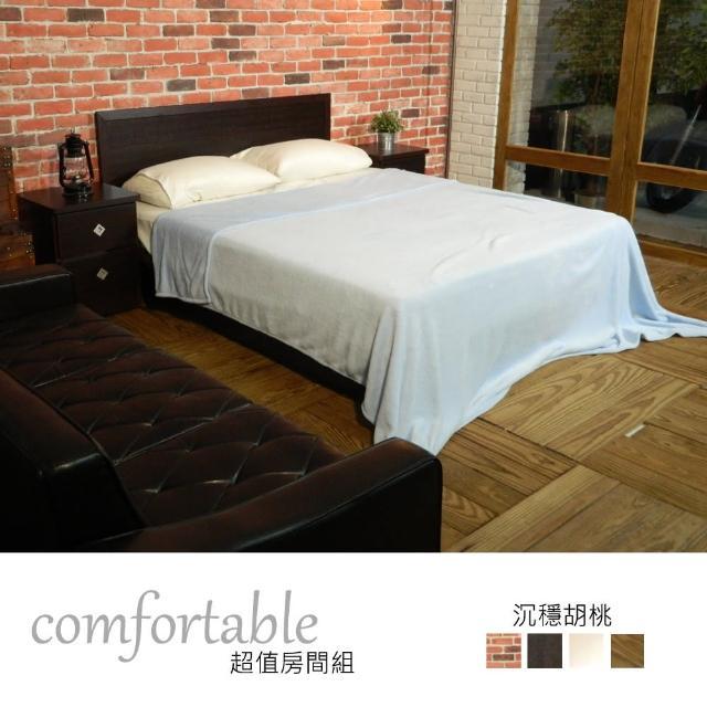 【時尚屋】喬伊絲床片型4件房間組-床片+掀床+床頭櫃1個+床墊-四色可選(1WG5-31W+GA14-5)
