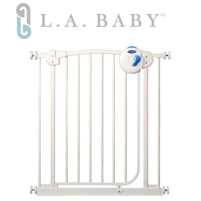 【美國 L.A. Baby】雙向自動上鎖安全鐵門欄(贈一片延伸件-三道安全鎖裝置)