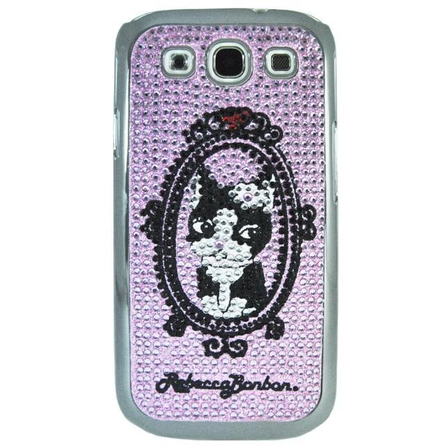 【Aztec】瑞貝卡 Samsung S3 塑膠硬手機殼(水鑽粉)