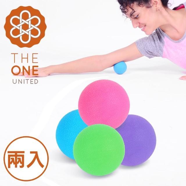 【The One】環保TPE瑜珈筋膜球-按摩球(混色2入)