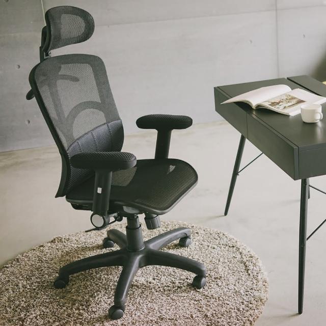 【樂活主義】全片式氣墊腰靠透氣網椅-辦公椅-電腦椅(台灣製專利認證)