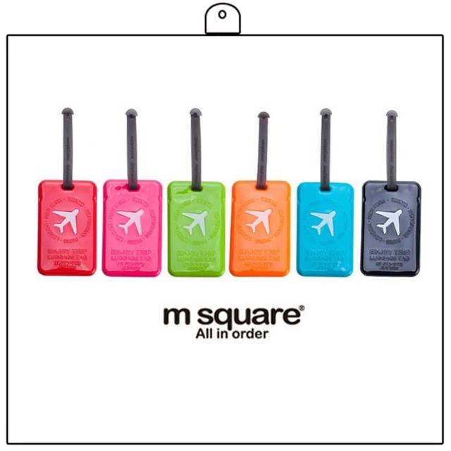 【M Square】繽紛糖果色行李掛牌-方形
