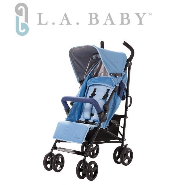 【美國 L.A. Baby】時尚輕便嬰兒手推車-藍色-紅色-黑色(共三色可選)
