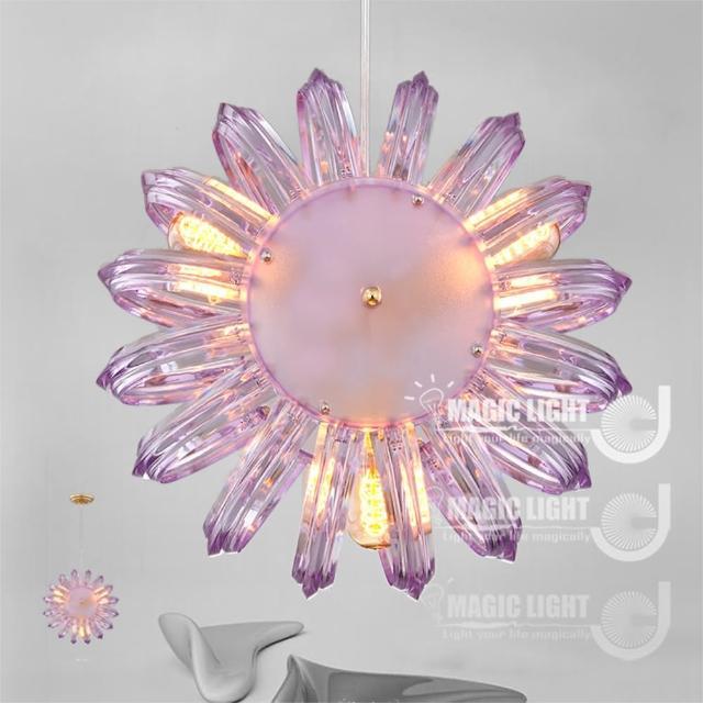 【光的魔法師 Magic Light】鸚鵡螺吊燈 三燈 簡約現代(優雅紫)