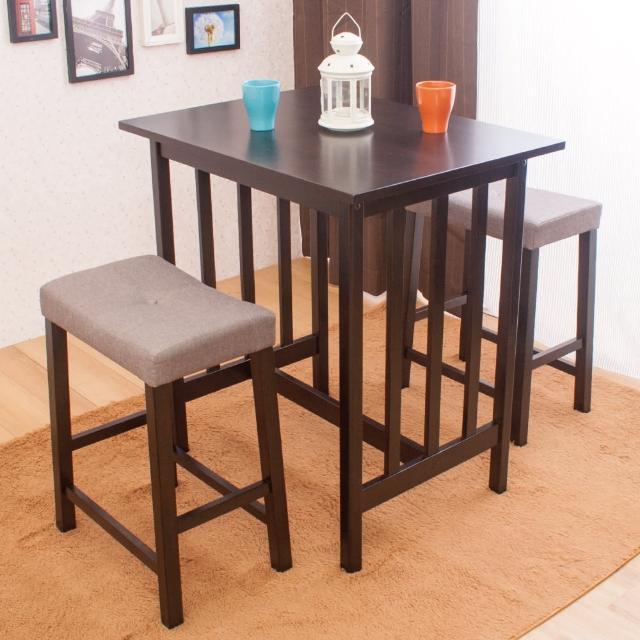 【AS】貝蒂與芭布斯吧檯桌椅組-80x60x87cm(一桌兩椅)