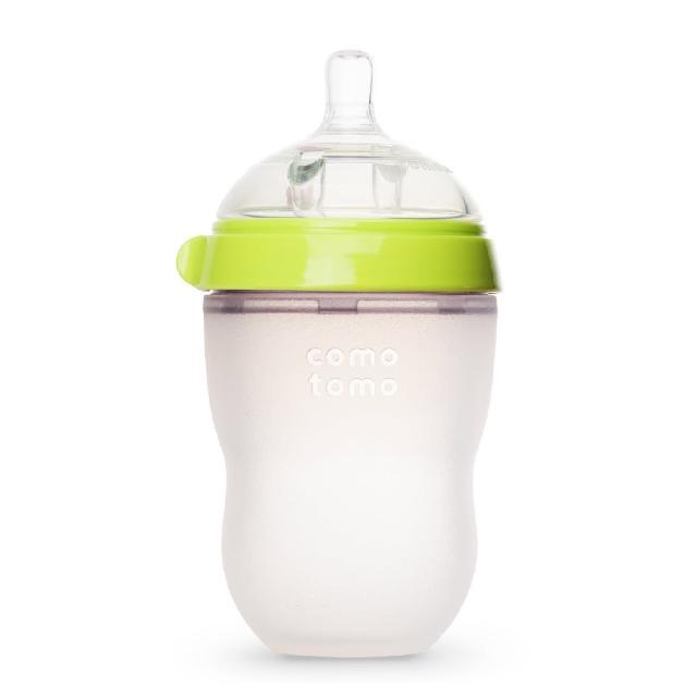 【comotomo】矽膠奶瓶250ML(綠色)