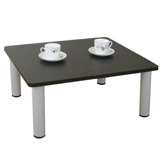 【美佳居】寬60x深60-公分-和室桌-休閒桌-矮桌-深胡桃木色(三款腳座可選)