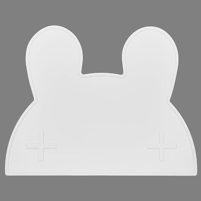 【澳洲We Might Be Tiny】矽膠防滑餐墊兔寶寶-純白(餐墊)