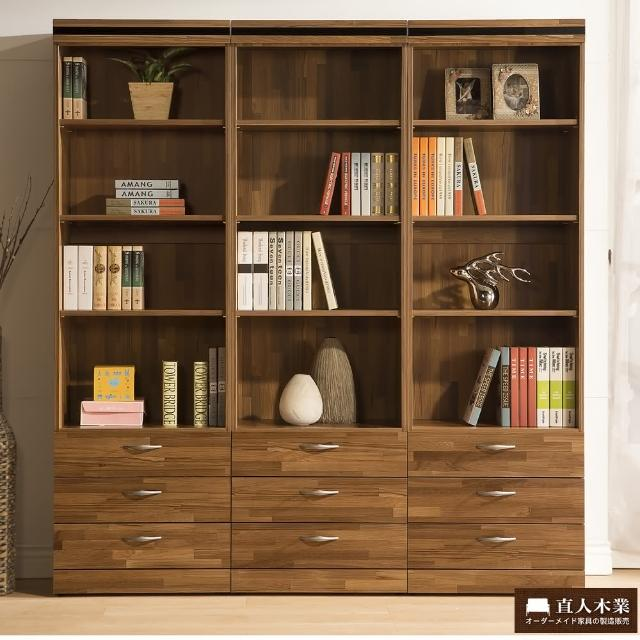 【日本直人木業】BRAC層木三個3抽180CM書櫃