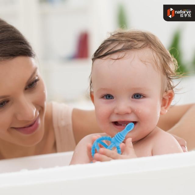 【拉孚兒 naforye】權杖嬰兒練習軟牙刷(三色可選)