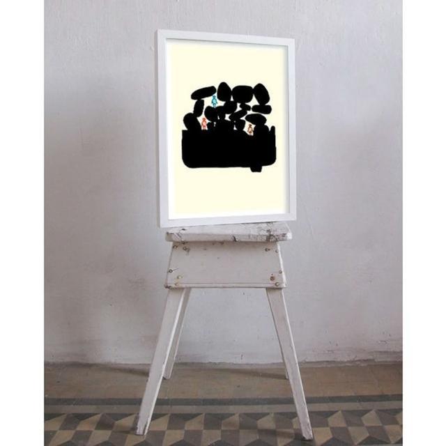 【摩達客】西班牙知名插畫家Judy Kaufmann藝術創作海報掛畫裝飾畫-與朋友渡假(附本人簽名 含木框)