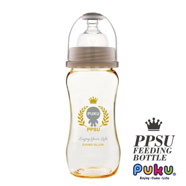 【PUKU藍色企鵝】PPSU母乳實感寬口奶瓶280ML