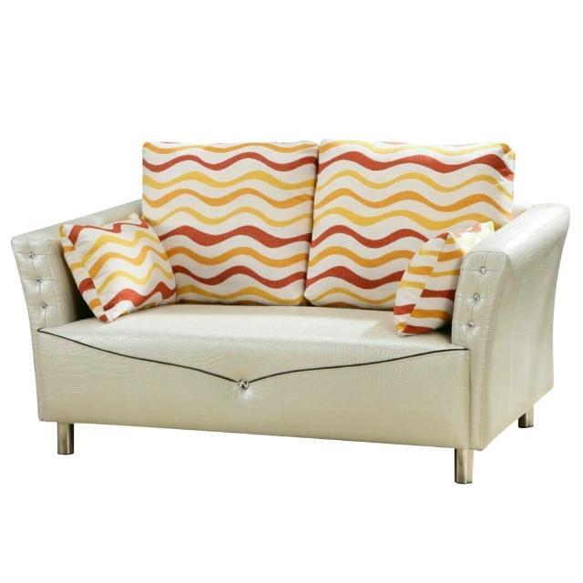 【Bernice】麗塔珠光鱷紋皮雙人座沙發