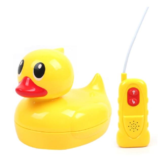 【孩子國】水陸兩用遙控黃色小鴨(贈撈鴨組)